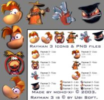 Rayman 3 Icons v2 for win XP by moho-xi-
