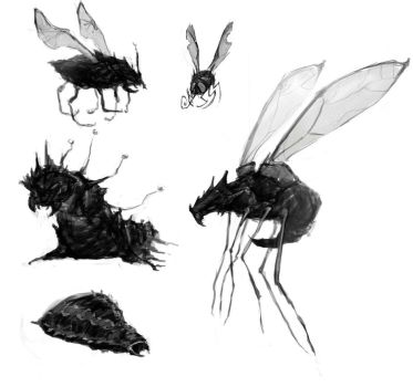Bug Silhouettes by scarlet-tango