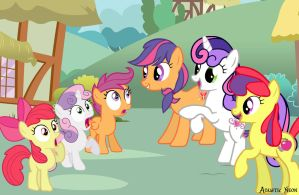 Cutie Mark Crusaders Generations by AquaticNeon