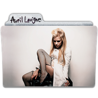 Avril Lavigne Folder Icon 1 by gterritory