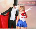 Tuxedo Mask and Sailor Moon @ Anime Expo 2014 by lonelymiracle