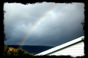 Rainbow with no rain... by coldkisses