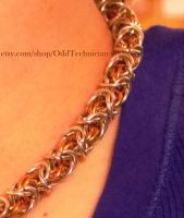 Silver and Copper Byzantine necklace by ulfchild