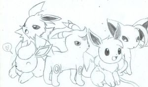 eeveelutions by BunearyK