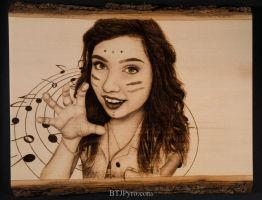 Pyrographed portrait of a friend by brandojones