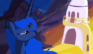 Luna Night Is Falling in MS.paint by sallycars