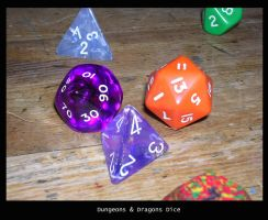Dungeons and Dragons Dice by altarbaby