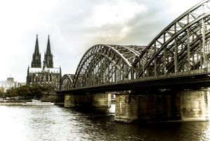 panoramic shot of Cologne by DanielGliese