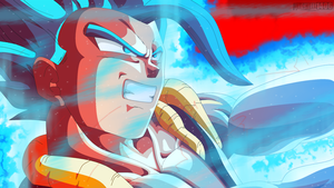 Super Saiyan Blue Gogeta (Remastered) by Mitchell1406