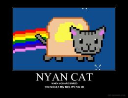 Nyan Cat Motivational by IappearToBeSpy