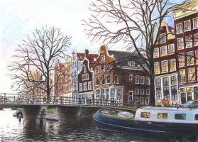 Winter in Amsterdam by reesmeister