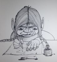 Illustration Troll by Clamdiggy