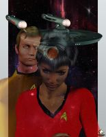 Kirk and Uhura by MotoTsume
