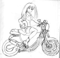 Claire's motorcycle by sackerhale