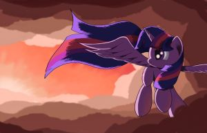 Flying at Twilight by Grennadder