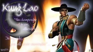 Kung Lao in fire of MK by Princess-Flopy-13