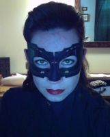catwoman anne hathaway TDKR mask quickie version by hollymessinger