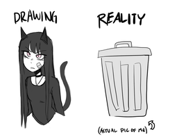 Drawing Vs Reality by Jih-pun