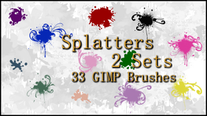 GIMP Splatter Set 1-2 by Illyera