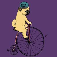Pug Ride by artists huebucket by Design-By-Humans