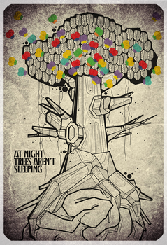 at night trees aren't sleeping by gaLrcka