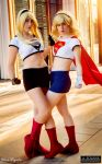 Supergirl and Dark Supergirl by AliciaMigueles