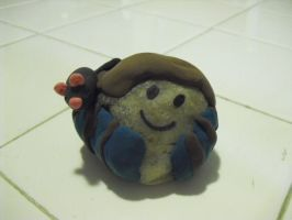 Rock person Craft with Rat on shoulder by SailorUsagiChan