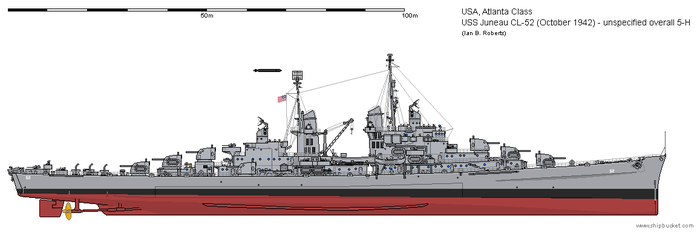 USS Juneau CL-52 (October 1942) - overall 5-H by ColosseumSB