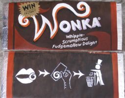 Wonka Bar + chewing gum? by thanxforthefish