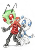Zim and GIR are kawaii by deathdesu