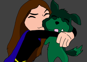 Puppy Hug by DCFangirl01