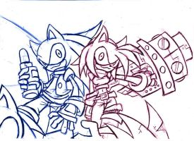 Sonic and Amy 2 by CloudshadeZer0