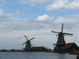 Place 315 - windmills in Zaanse Schans by Momotte2stocks