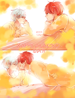 knb: happy akakuro day! by califlair