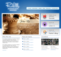 RHM Website Mockup by CubedMEDIA