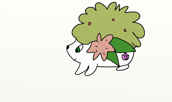 PMD Team Floral Member: Aria the Shaymin by Wolf-The-Absol