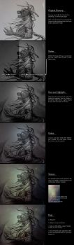 Process of 'Stormy' by Kathaja