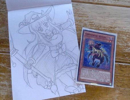 Ghostrick Witch (sketch photo) by Mangamad