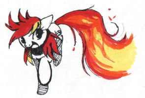 Gunfire! by PegaSisters82
