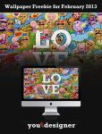 Wallpaper Freebie for February 2013 by youthedesigner