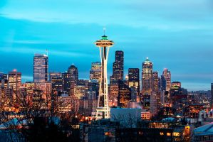 Seattle Cityscape by UrbanRural-Photo