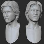 Harrison Ford, final head sculpt by ToshiTNE
