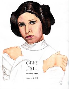 Carrie Fisher tribute by smjblessing