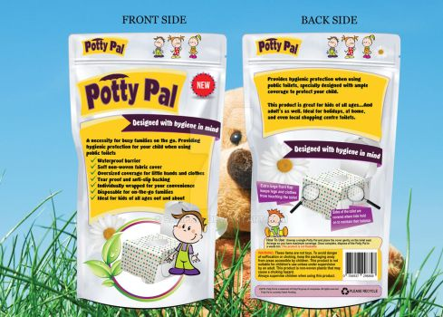 Hygiene Product Packaging Design for Potty Pal by samphai