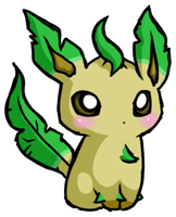 - Lil' Leafeon - UPDATE - by ToxicOxygen
