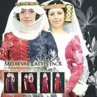 Medieval Ladies Pack by Georgina-Gibson