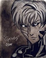 Genos Charcoal Portrait by TheNobodyofaSOLDIER