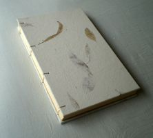 Coptic Stitched Journal Brown Leaves by GatzBcn