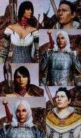 Dragon Age 2 - Hawke Family by JosephB222
