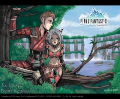 FFXI - Tree and Waterfall by gem2niki